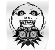 Majora's mask - Black Poster