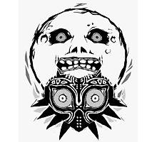 Majora's mask - Black Photographic Print