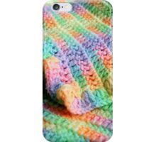 Multicolored Knitted Baby Blanket iPhone Case/Skin