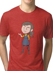 DOCTOR WHO'S CLARA OSWALD (SERIES 9) Tri-blend T-Shirt