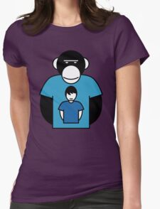 Planet Apes-man Womens Fitted T-Shirt