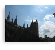 Houses of Parliament in Silhouette  Canvas Print