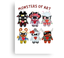 Monsters of Art Canvas Print