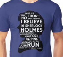 BBC Sherlock Holmes Quotes Unisex T-Shirt