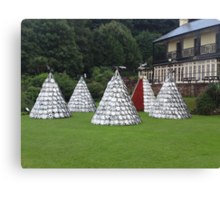Hubcap Summer Teepees in Shaldon Canvas Print