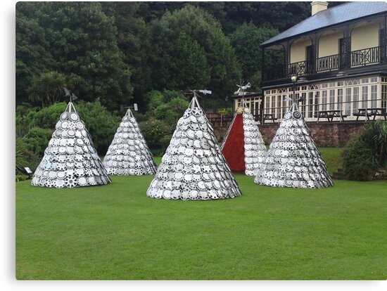 Hubcap Summer Teepees in Shaldon by John Wells
