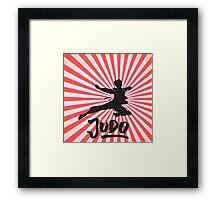 JUDO ILLUSTRATION Framed Print