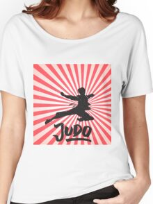 JUDO ILLUSTRATION Women's Relaxed Fit T-Shirt