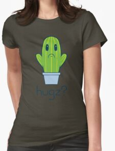 Hugz Cactus Womens Fitted T-Shirt