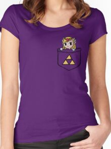 Legend Of Zelda - Pocket Zelda Women's Fitted Scoop T-Shirt