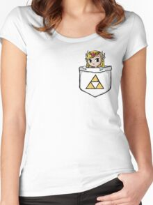Legend Of Zelda - Pocket Zelda Women's Fitted Scoop T-Shirt