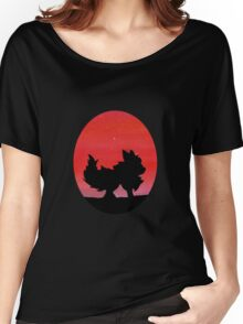 Flareon Sunset Silhouette Pokemon  Women's Relaxed Fit T-Shirt