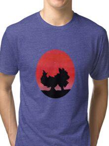 Flareon Sunset Silhouette Pokemon  Tri-blend T-Shirt