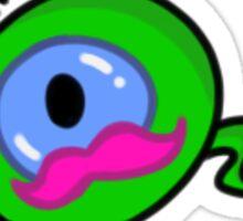 Pink Moustache Septiceye Sticker Sticker