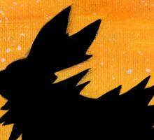 Jolteon Sunset Silhouette Pokemon Sticker