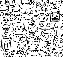 Cat Heads by Renee de Valle