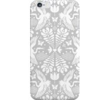 As the crane flies in Grey iPhone Case/Skin