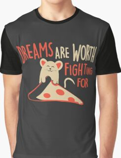 Mouse Like Pizza Graphic T-Shirt