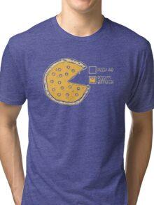Pizza Pie Chart nom nom Tri-blend T-Shirt