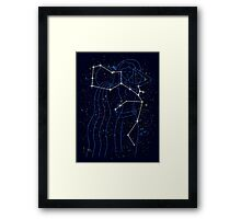 The Water Bearer Constellation Framed Print