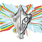 Hyena Skull With Dahlias by riomarcos