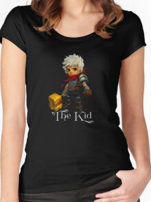 The Kid with Text Women's Fitted Scoop T-Shirt