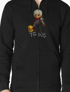The Kid with Text Zipped Hoodie