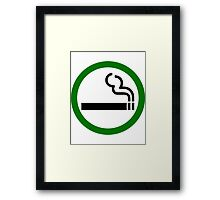 Smoke Up Framed Print