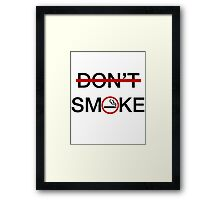 Smoke Framed Print