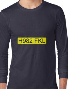 Jeremy Clarkson Falklands number plate Long Sleeve T-Shirt