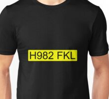 Jeremy Clarkson Falklands number plate Unisex T-Shirt