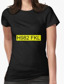 Jeremy Clarkson Falklands number plate Womens Fitted T-Shirt