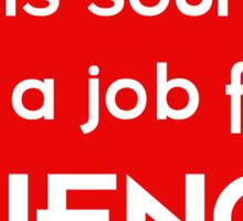 This sounds like a job for SCIENCE - light text Sticker