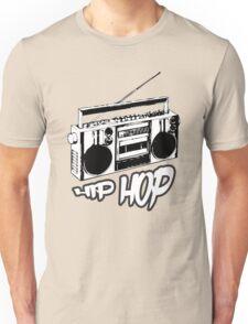 boombox hip hop rap urban graffiti breakdance dj 90s stereo retro Unisex T-Shirt