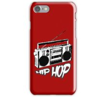 boombox hip hop rap urban graffiti breakdance dj 90s stereo retro iPhone Case/Skin