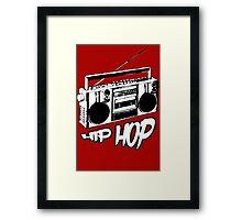 boombox hip hop rap urban graffiti breakdance dj 90s stereo retro Framed Print