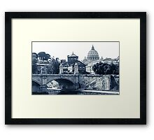 A look at history - St. Peter's Basilica Framed Print