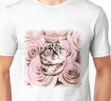 Daisy Tabby Cat Roses Unisex T-Shirt