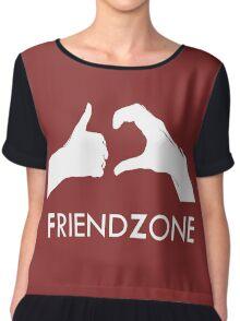 Friendzone (white text) Chiffon Top