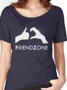 Friendzone (white text) Women's Relaxed Fit T-Shirt