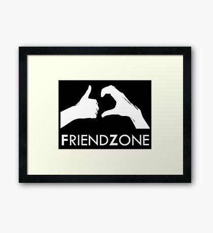Friendzone (white text) Framed Print