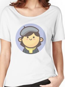 Mini Characters - Beret Girl Women's Relaxed Fit T-Shirt