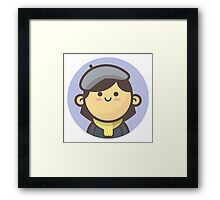 Mini Characters - Beret Girl Framed Print