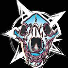 Bear skull with star by riomarcos