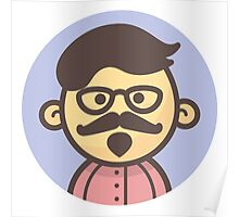 Mini Characters - Hipster Man Poster