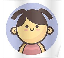 Mini Characters - Little Girl Ponytails Poster