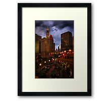 Dining on the River Framed Print