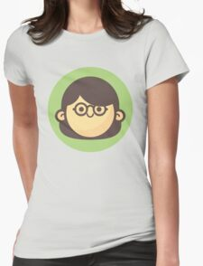 Mini Characters - Glasses Girl Womens Fitted T-Shirt