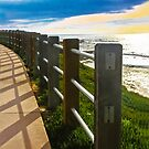 Sea Fence at Dusk by Heather Friedman