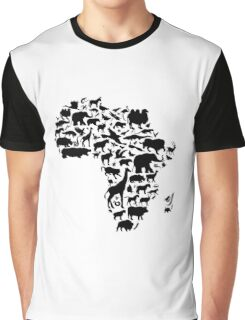Animals of Africa Graphic T-Shirt